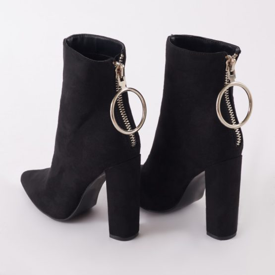 Public Desire Fleek Metal Ring Ankle Boots