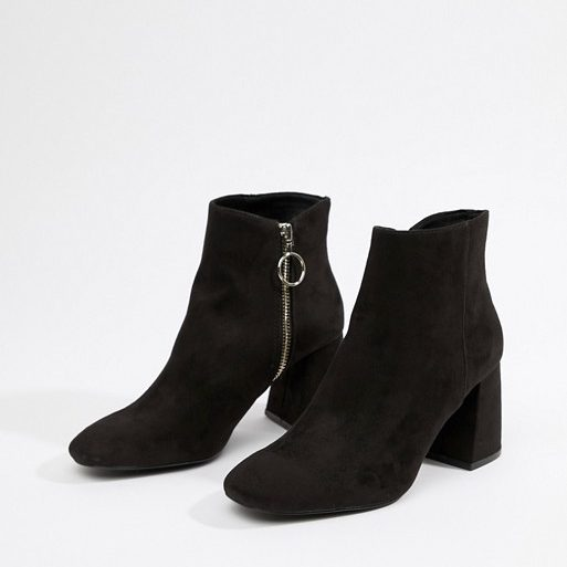 Stradivarius Heeled Ankle Boot