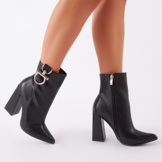 Public Desire Forever Metal Trim Ankle Boots